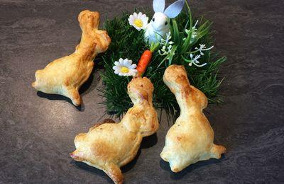 Petits lapins feuilleté à la pâte à tartiner