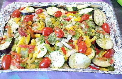 Barquette de légumes du soleil au barbecue