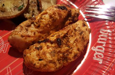 Poulet au barbecue, sauce basque douce