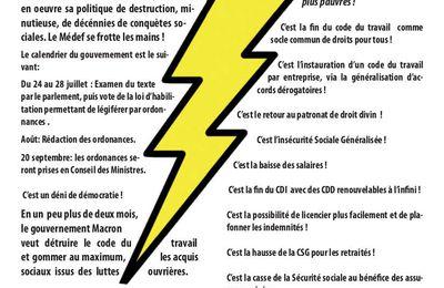 Préparer dès maintenant la grève du 12 septembre contre la guerre éclair de Macron
