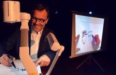 Le dessinateur Chaunu fait son show à Paris !