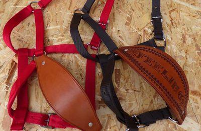 MUSEROLE CUSTOM DE CUIR POUR LICOL, custom leather NOSEBAND for halter.