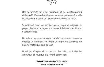 Rabih Geha Architects présente son projet Uberhaus à la Villa Noailles