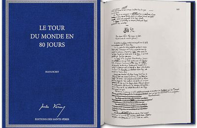 Manuscrit original | Le tour du monde en 80 jours | Editions des Saints Pères