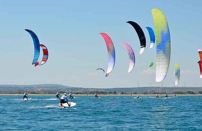 kitesurf Leucate : Podium de le Coupe de France FFVL Speed Crossing