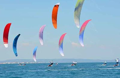 kitesurf Leucate : Coupe de France speed crossing : Axel Mazella Intouchable