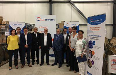 Groupe Scopelec : visite de Jacques Mézard, Ministre de la Cohésion des Territoire