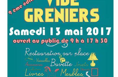 Samedi 13 mai 2017, Vide grenier de l'école Jean-Jaurès