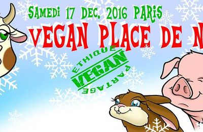Vegan Place de Noël demain samedi 17 12 2016...Place du Palais-Royal