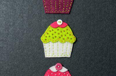 Cupcakes en feutrine