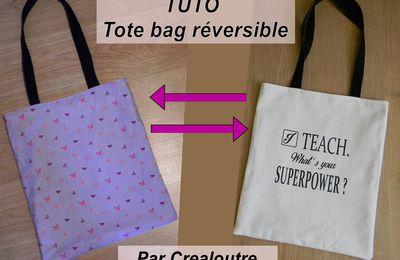 TUTO Tote bag réversible