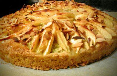 Tarte Sablé breton aux pommes et à la crème de pistache