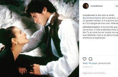 Stendhal - Mme de Rénal et Julien sur Instagram