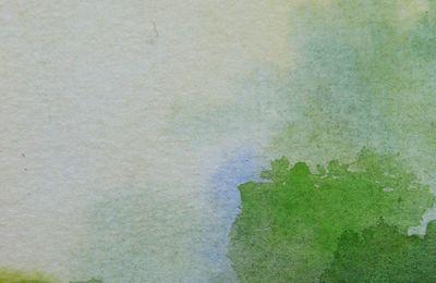 Paysage. Aquarelle, 8x12 cm