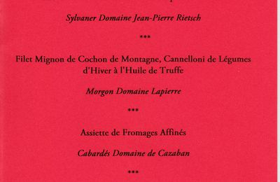 "Menu Saint Valentin au ""Temps des Vendanges"""
