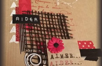 Mail art pour challenge Give Your Scrap prêt à partir!!