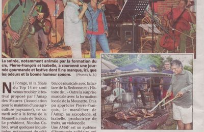 Festi'Mounette, article Var Matin du 04.06.14
