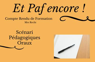 Stage Paf - Scenarii Pédagogiques Oraux