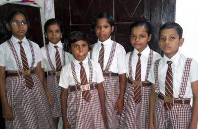 Enfants scolarisés par l'association : année scolaire 2016 - 2017