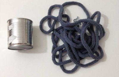 DIY - le cache pot en tricotin