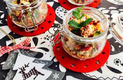 insalata di polpo e verdure nel vasetto