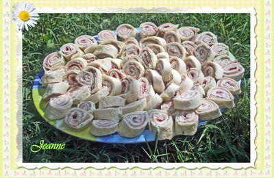 Wraps roulés au fromage et jambon