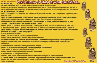 Humour de moine du côté du Mont Saint-Michel...!