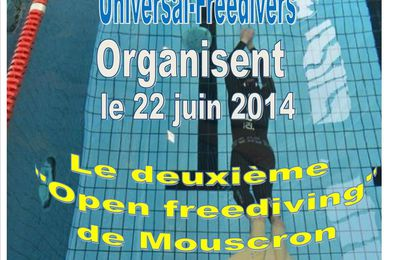 2ème Open Freediving Mouscron (Belgium)