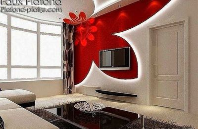 cr ation faux plafond moderne 2015 faux plafond design. Black Bedroom Furniture Sets. Home Design Ideas
