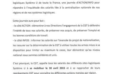 Jeudi 30 avril, Système U à Trélazé est en grève !