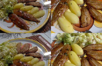 Assiette aux deux sardines