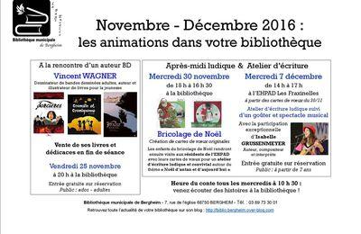 Programme d'animations nov-déc 2016