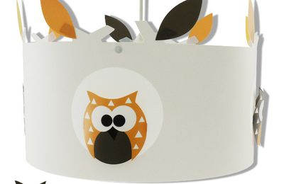 une suspension hibou pour un petit gar on luminaire enfant lampe b b casse noisette. Black Bedroom Furniture Sets. Home Design Ideas