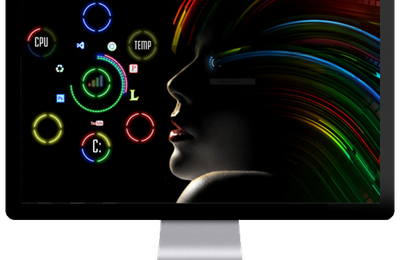 Hair rainbow Desktop theme