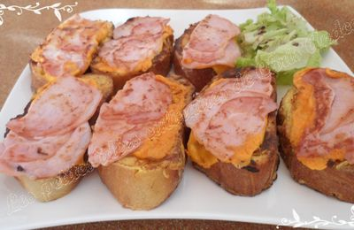 Pain perdu bacon / mimolette