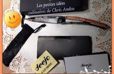 Concours pour gagner un magnifique couteau personnalisable Deejo