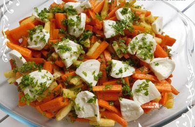 Quinoa, légumes grillés et mozzarella