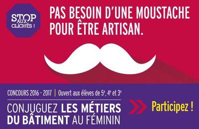 """Concours """"conjuguez les métiers du bâtiment au féminin !"""""""