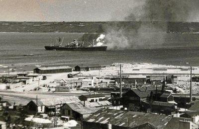Brest 28 juillet 1947. Explosion de l'Ocean Liberty.