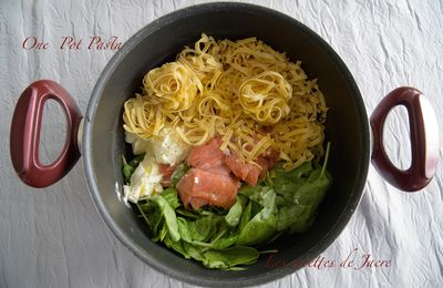 One Pot Pasta / Epinards et saumon fumé