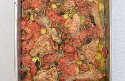 Poulet au four aux légumes