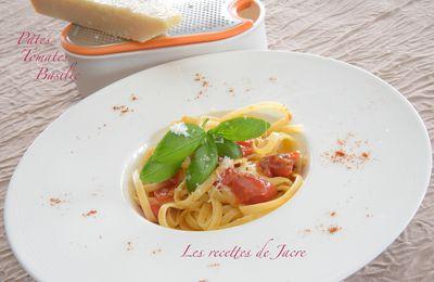 Pâtes tomates basilic