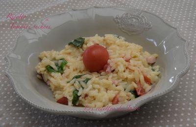 Risotto aux tomates cerises séchées et épinards
