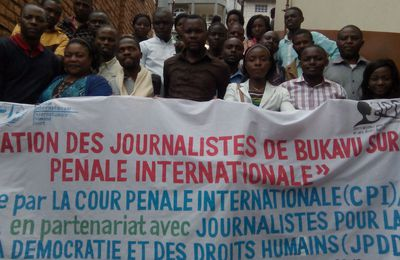Bukavu: 30 journalistes formés sur la justice pénale internationale
