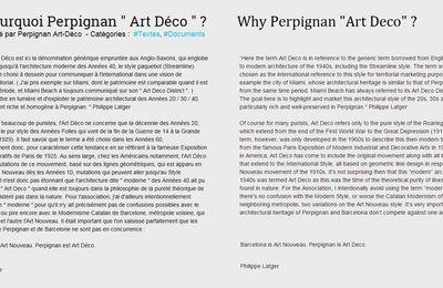 """Why Perpignan """"Art Deco"""" ?"""