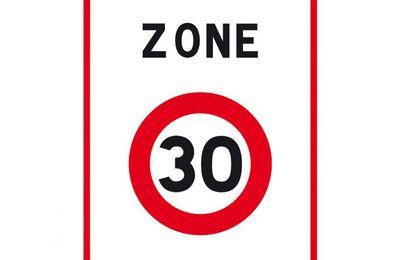 Régmentation d'une zone 30