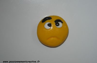 Magnet Smiley en fimo