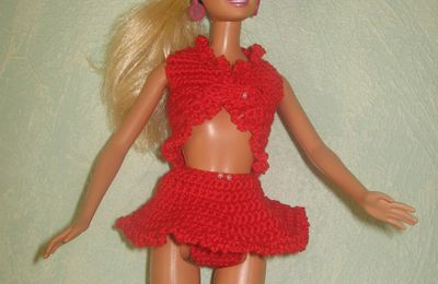 Tutoriel crochet - Barbie Salsa