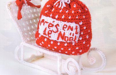 Tutoriel au crochet - le traineau du Père Noël