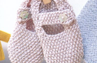 Tutoriel tricot - Chaussons tendres babies